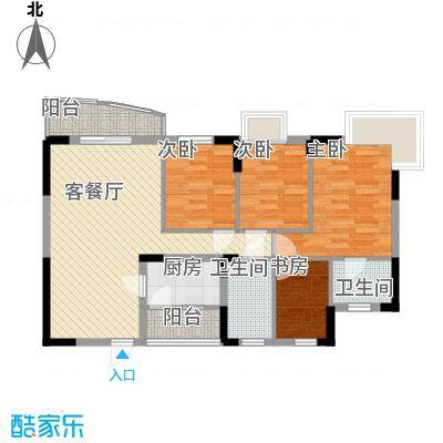 健逸天地105.00㎡健逸天地一期3室户型3室