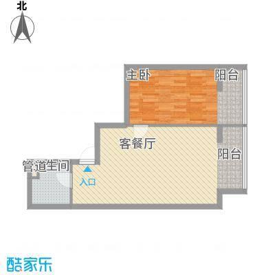 左岸经典70.58㎡3#楼C户型1室1厅1卫1厨