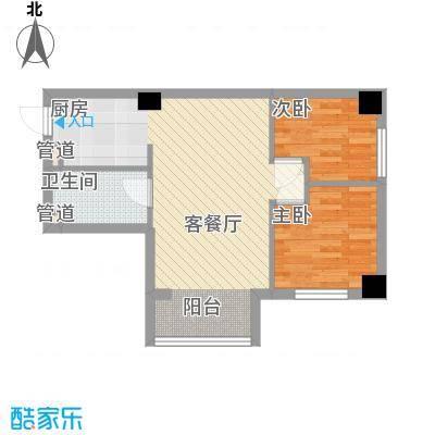 左岸经典63.23㎡3#楼B户型1室1厅1卫1厨