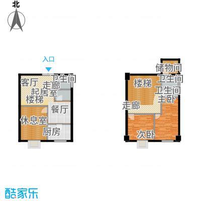 金世纪家园三期77.30㎡金世纪家园三期户型图D户型3室2厅2卫1厨户型3室2厅2卫1厨