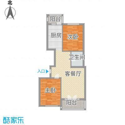 祥和家园67.27㎡户型2室2厅1卫1厨
