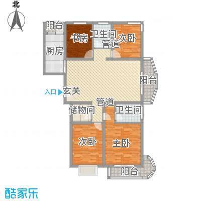 国际丽都城163.05㎡国际丽都城户型图6#楼D户型4室2厅2卫1厨户型4室2厅2卫1厨