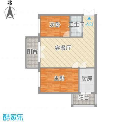 祥和家园60.83㎡户型2室2厅1卫1厨