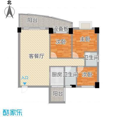 锦绣华庭113.90㎡锦绣华庭户型图30栋10023室2厅2卫1厨户型3室2厅2卫1厨