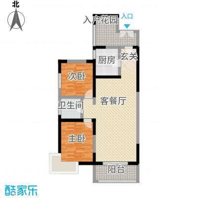 康城项目105.78㎡康城项目户型图13#15#16#楼E户型2室2厅1卫1厨户型2室2厅1卫1厨