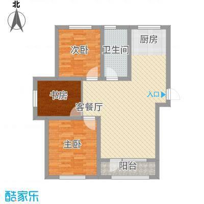 外滩九号103.00㎡外滩九号户型图1#楼J户型3室2厅1卫1厨户型3室2厅1卫1厨