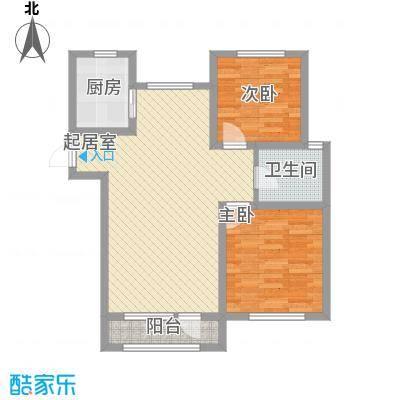 外滩九号91.00㎡外滩九号户型图1#楼L1户型2室2厅1卫1厨户型2室2厅1卫1厨