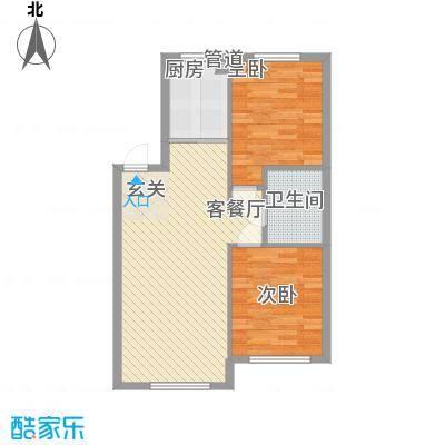 清河湾82.00㎡清河湾2室户型2室