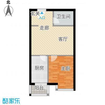 都市e线53.23㎡太原都市e线户型10室