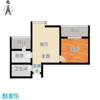都市e线61.50㎡都市e线户型图C2-61.56室1厅1卫户型6室1厅1卫