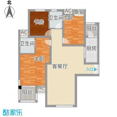 美林湾133.71㎡美林湾户型图133.71平米三室两厅两卫3室2厅2卫1厨户型3室2厅2卫1厨