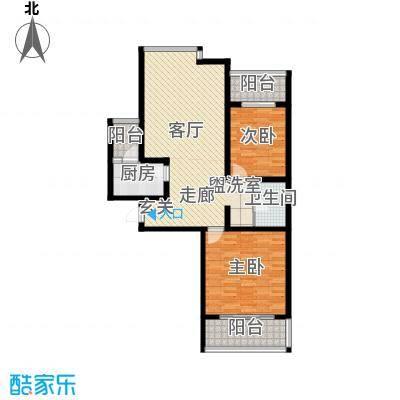 都市e线98.50㎡都市e线户型图A22室1厅1卫户型2室1厅1卫
