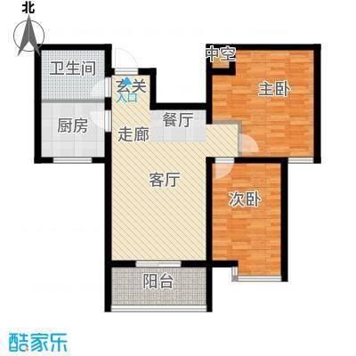都市e线86.00㎡都市e线户型图B2-862室2厅1卫户型2室2厅1卫