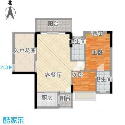锦江花园74.00㎡锦江花园2室户型2室