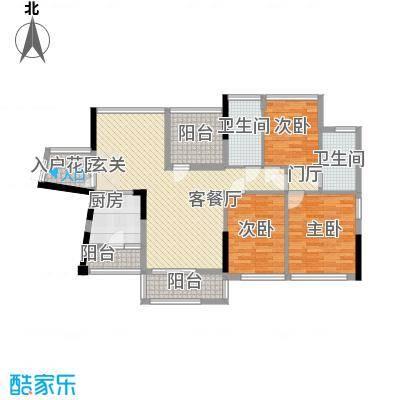 佳兆业水岸豪门114.00㎡佳兆业水岸豪门户型图13-15栋标准层02户型3室2厅2卫1厨户型3室2厅2卫1厨