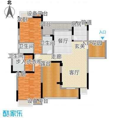 海琴水岸155.00㎡海琴水岸户型图21栋2-16层012室2厅3卫1厨户型2室2厅3卫1厨