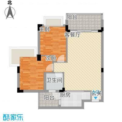 中惠郡庭户型图户型2 2室2厅2卫1厨