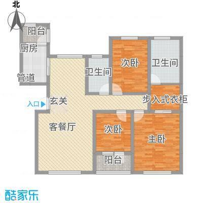 恒瑞大湖山语恒瑞大湖山语户型图F.三室两厅两卫jpg户型10室