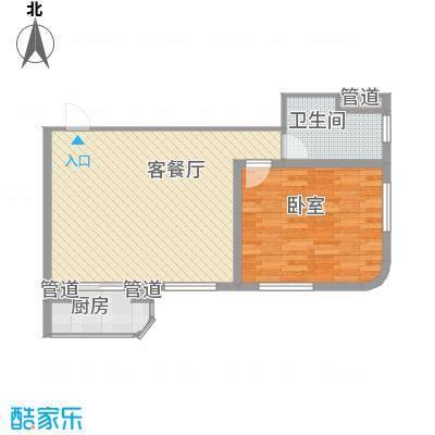云顶国际公馆77.56㎡云顶国际公馆户型图1室1厅1卫1厨户型10室