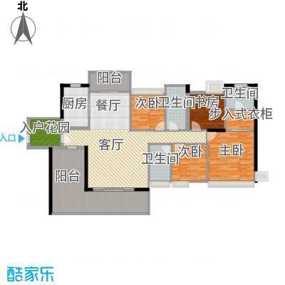 盈拓御江173.91㎡2、4号楼1、2号单位标准层户型4室1厅3卫1厨