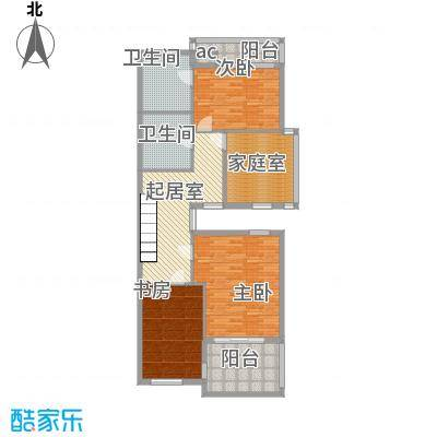 江南第一城100.00㎡江南第一城户型图联排别墅TC-S-4二层户型10室