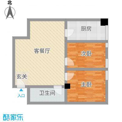 浙江大厦83.89㎡浙江大厦户型图公寓1#户型2室2厅1卫1厨户型2室2厅1卫1厨