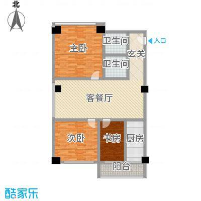 浙江大厦154.63㎡浙江大厦户型图公寓9#户型3室2厅2卫1厨户型3室2厅2卫1厨