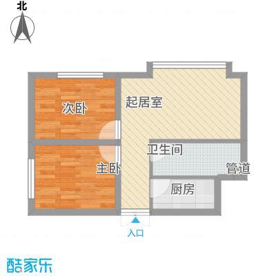 幸福BOX51.25㎡幸福BOX户型图B户型2室2厅1卫1厨户型2室2厅1卫1厨