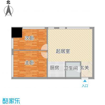 福佳国际公寓107.40㎡户型10室
