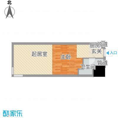 福佳国际公寓70.97㎡户型10室