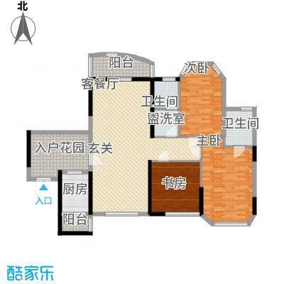东逸翠苑120.00㎡东逸翠苑3室户型3室