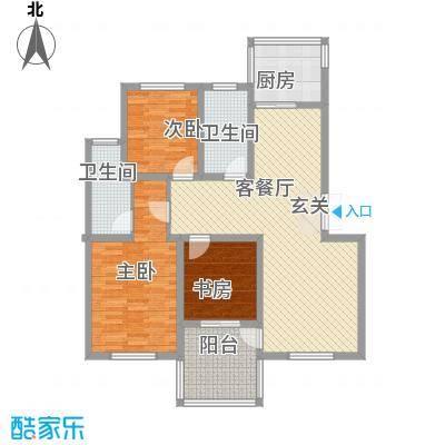 棕榈泉133.00㎡棕榈泉2室户型2室