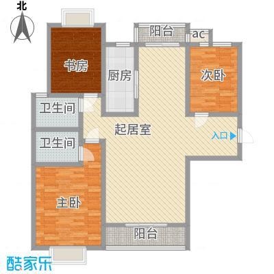 万水澜庭(西区)145.06㎡万水澜庭(西区)户型图3号楼B户型3室2厅2卫1厨户型3室2厅2卫1厨