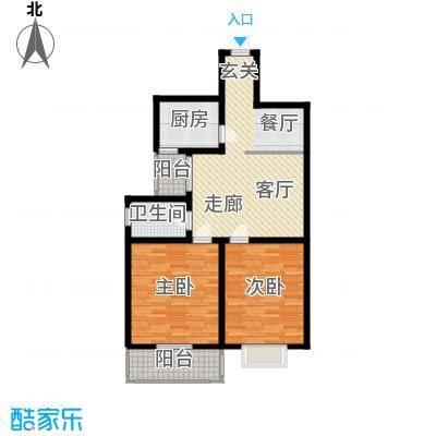 欧风丽景107.86㎡欧风丽景户型图户型A22室2厅1卫1厨户型2室2厅1卫1厨