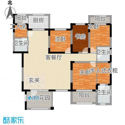 小平岛E组团200.00㎡小平岛E组团4室户型4室