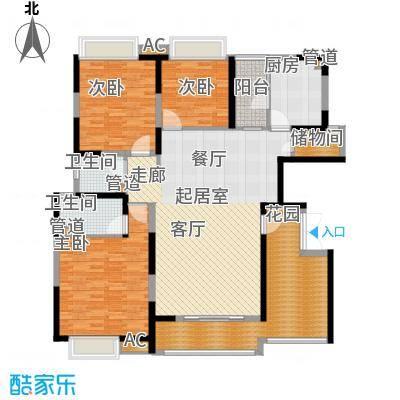 富康豪庭二期132.00㎡富康豪庭二期3室户型3室