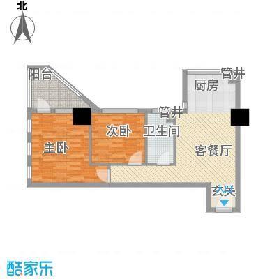 新建SOHO89.57㎡新建SOHO户型图户型八2室1厅1卫1厨户型2室1厅1卫1厨