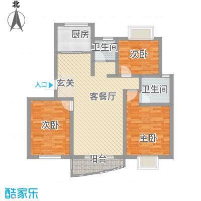 万马滨河城115.81㎡万马滨河城户型图户型图3室2厅1卫1厨户型3室2厅1卫1厨