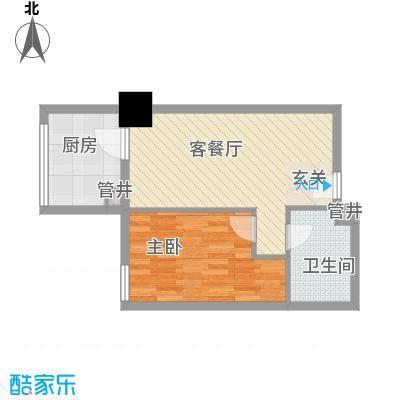 新建SOHO59.54㎡新建SOHO户型图户型三1室1厅1卫1厨户型1室1厅1卫1厨
