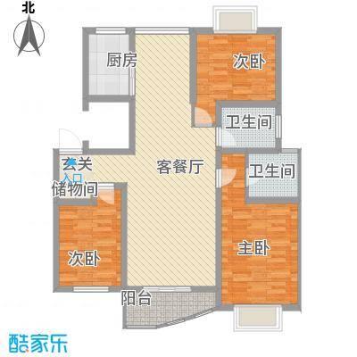 万马滨河城123.34㎡万马滨河城户型图户型图3室2厅2卫1厨户型3室2厅2卫1厨