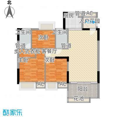 理想0769沁园108.00㎡理想0769沁园3室户型3室