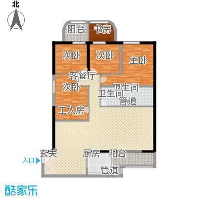 锦绣福城189.00㎡锦绣福城户型图4室2厅2卫户型10室