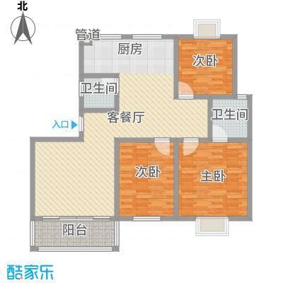 健逸天地二期128.00㎡健逸天地二期3室户型3室