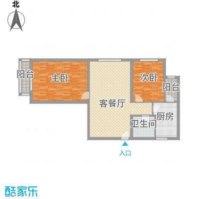 健逸天地二期128.00㎡健逸天地二期2室户型2室