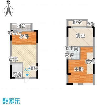 理想0769沁园85.00㎡理想0769沁园2室户型2室