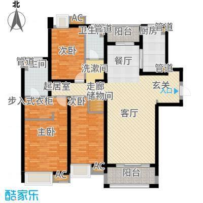龙升豪苑158.00㎡龙升豪苑3室户型3室