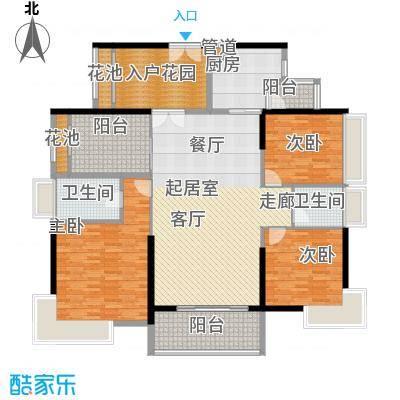 龙升豪苑173.00㎡龙升豪苑3室户型3室
