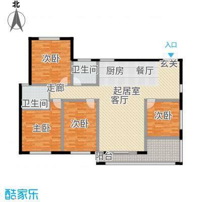 帝景传说159.04㎡帝景传说户型图D4标准层4室2厅2卫1厨户型4室2厅2卫1厨