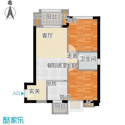 龙升豪苑112.00㎡龙升豪苑2室户型2室