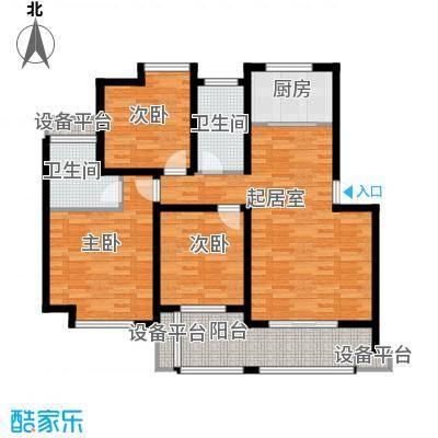骏和・玲珑湾108.00㎡骏和・玲珑湾户型图c5户型3室2厅2卫1厨户型3室2厅2卫1厨